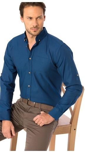 LC Waikiki Uzun Kollu Gömlek İndigo
